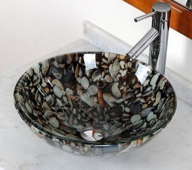 Copenhagen Sinks 17 Inch Pebble Stone Look Gl Bathroom Vessel Sink 378