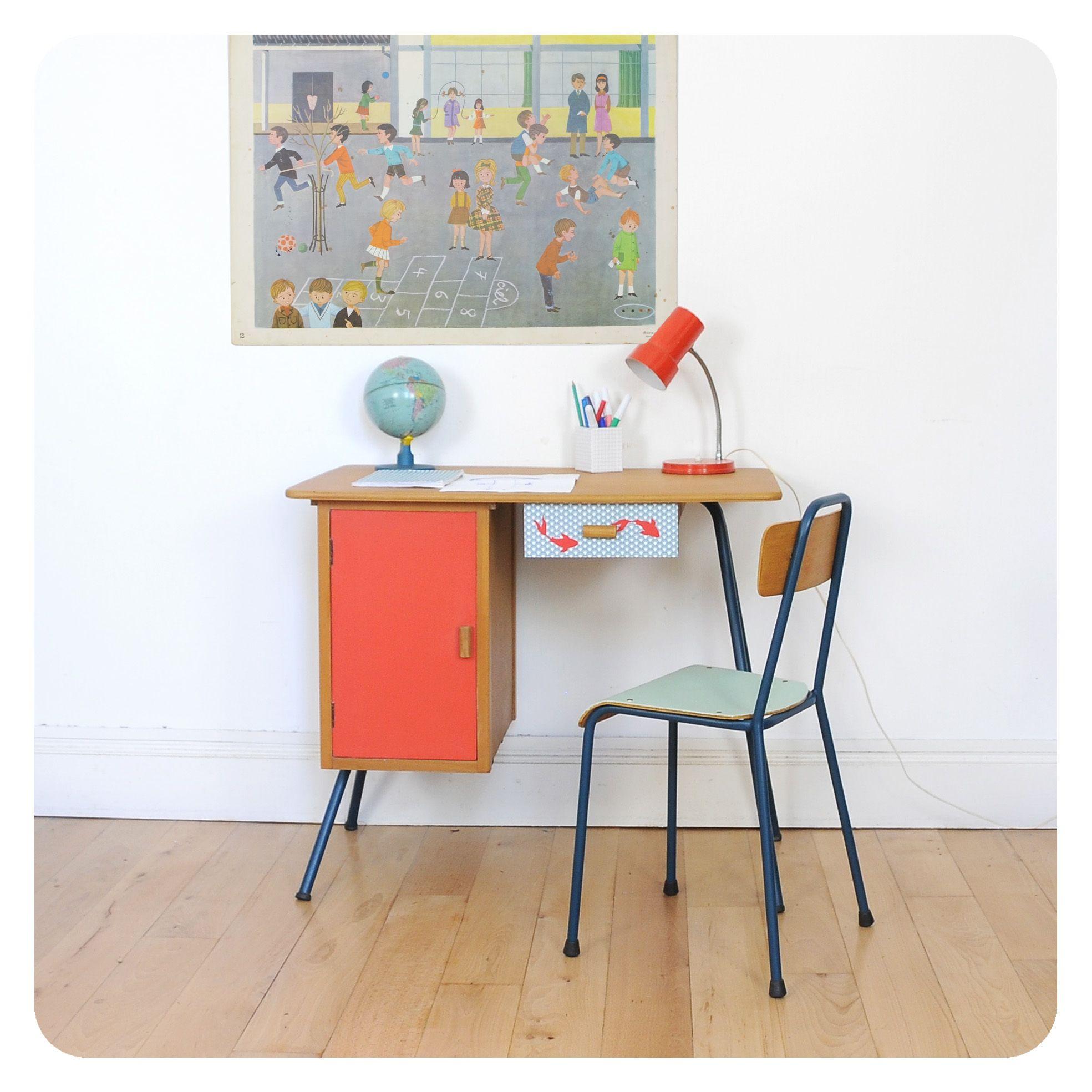 Bureau Enfant Vintage Meuble Vintage Mobilier De Salon Bureau Enfant