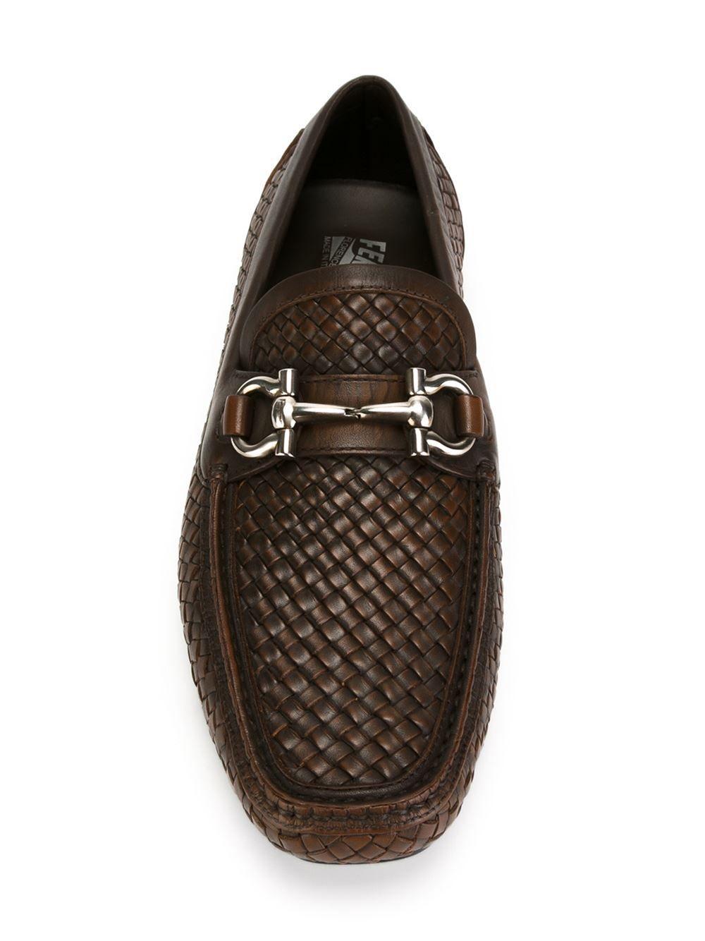 Salvatore Ferragamo woven loafers