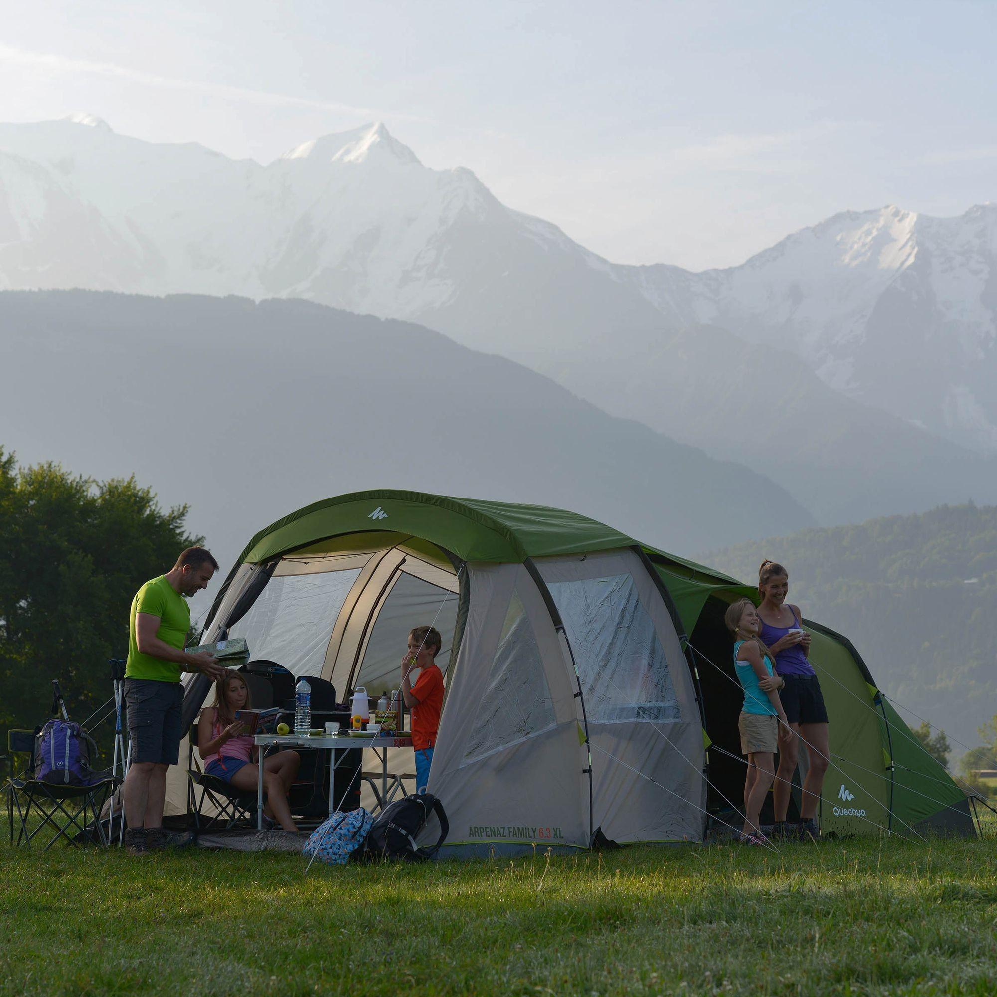 tente familiale t 6 3 xl quechua camping tente. Black Bedroom Furniture Sets. Home Design Ideas