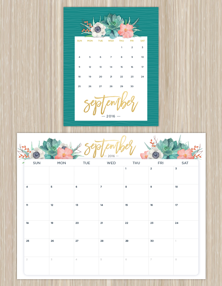 Printable Calendars for a More Floral 2019