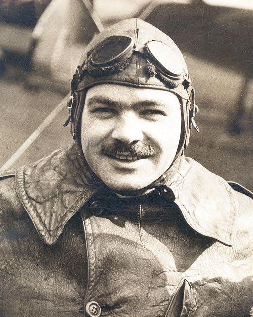 Photograph of airmail pilot Wesley Smith by Smithsonian Institution, via Flickr