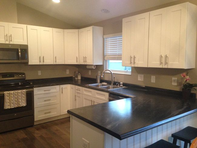 Ice White Shaker Cabinets by Kitchen Cabinet Kings | home renovation ...