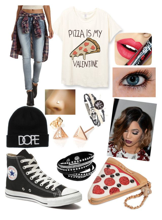 """""""Yeeeees"""" by mkm13 ❤ liked on Polyvore featuring Converse, Betsey Johnson, Refuge, Fiebiger, women's clothing, women's fashion, women, female, woman and misses"""