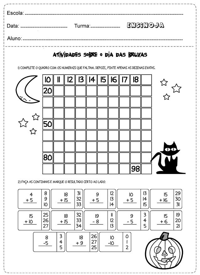 Atividades de matemática 2° ano adição e subtração – Ensino Já ...