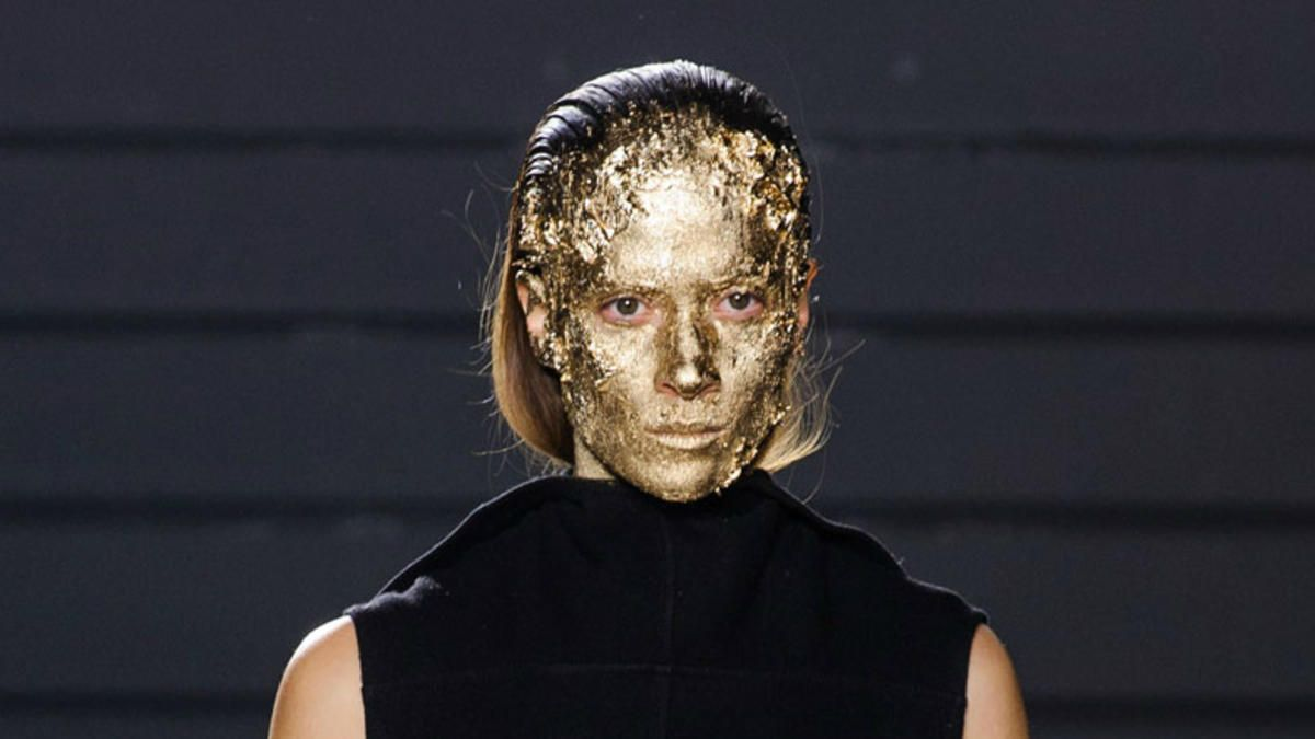Gold Leaf Your Face For Fall, à la Rick Owens. Trust us on this one.