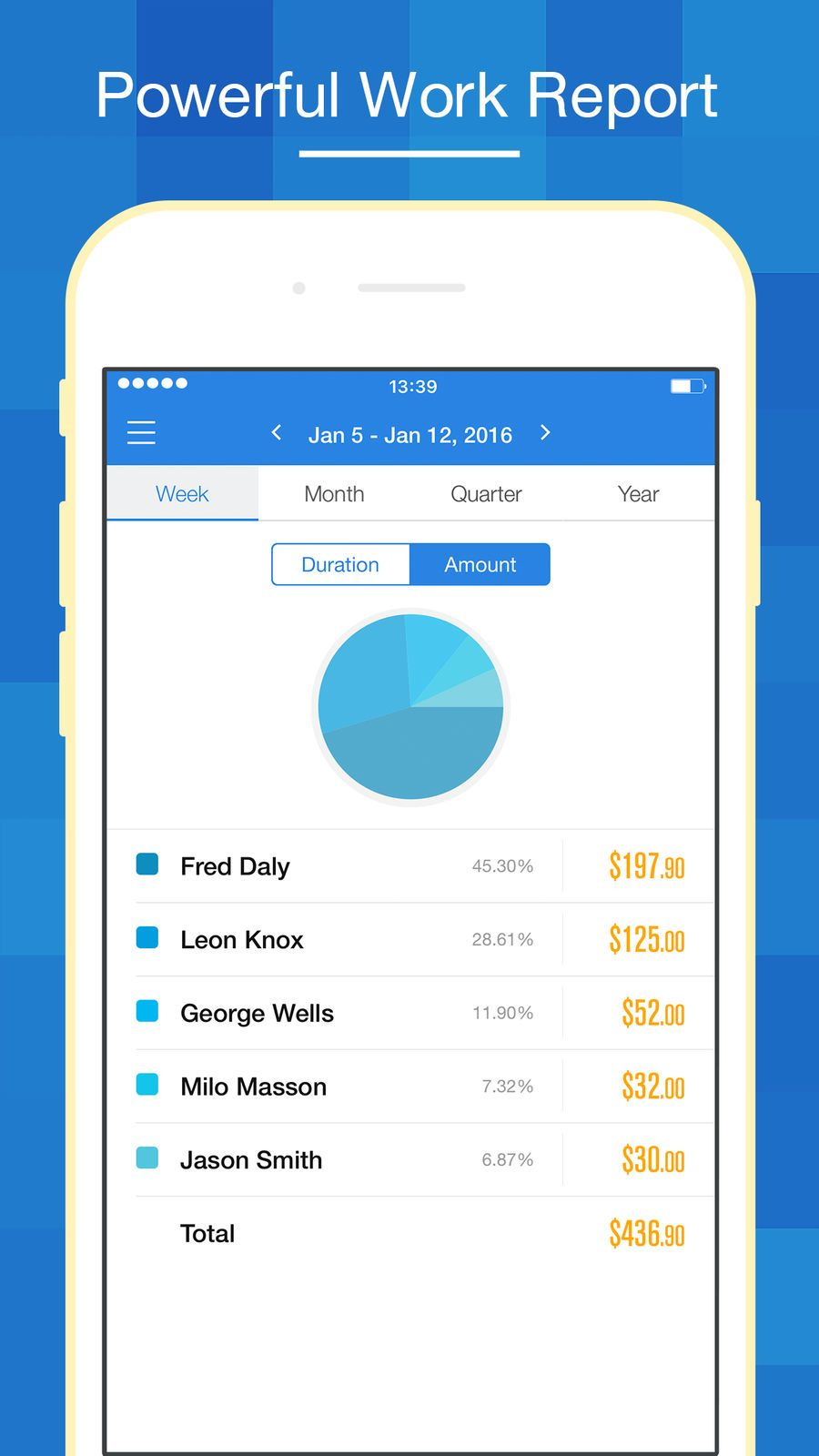 Hours keeper time tracking timesheet iphone games