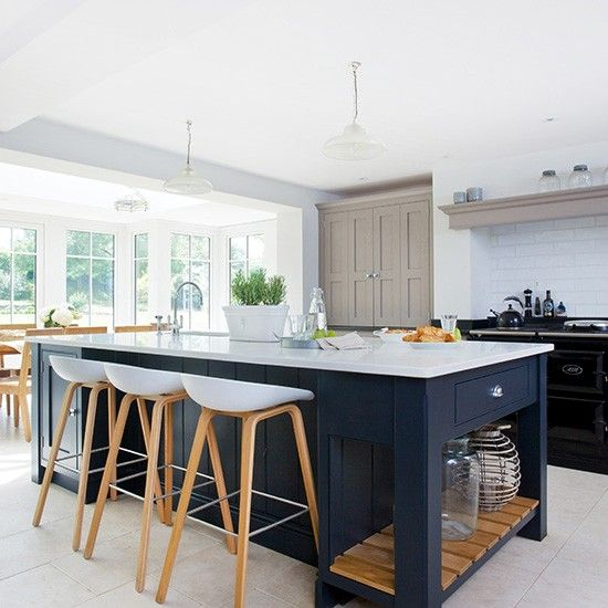 Modern kitchen with painted shaker units | Pinterest | Beautiful ...