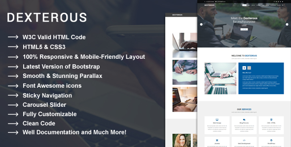 Dexterous multipurpose corporate and business html5 template dexterous multipurpose corporate and business html5 template accmission Choice Image