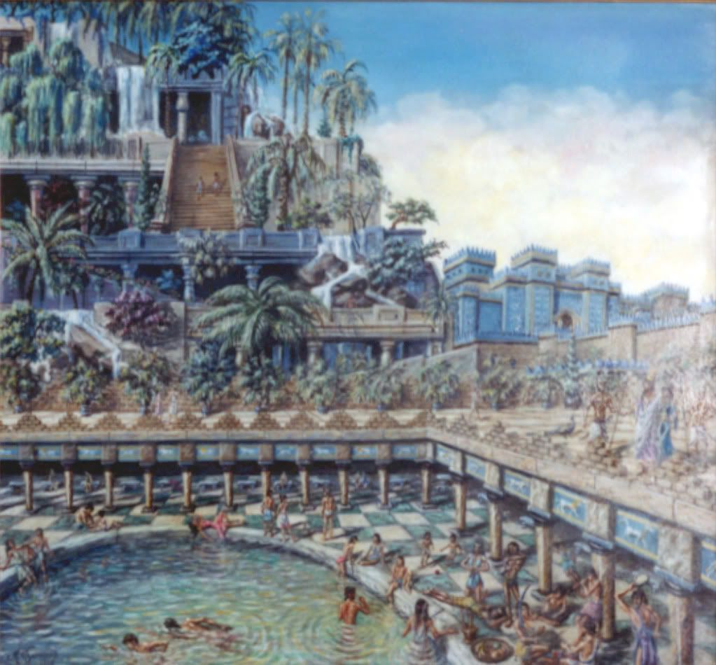 The Hanging Gardens of Babylon one of many representations of