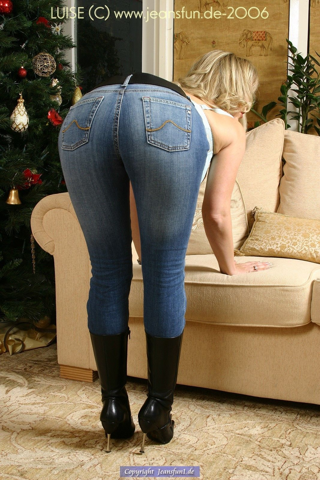 Mature wife bending over