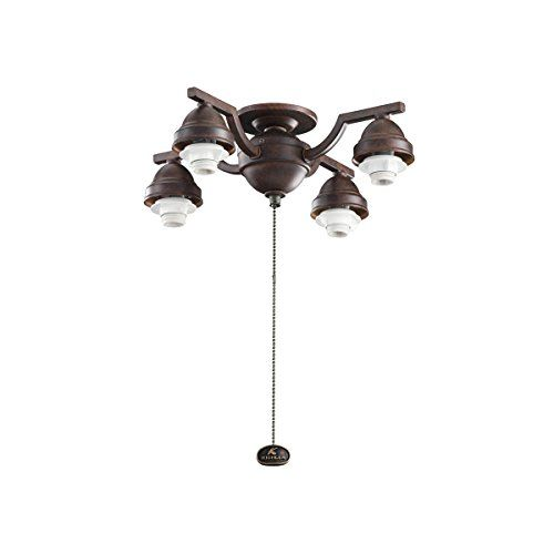 Kichler Lighting 350104TZ Decorative 4-Light Ceiling Fan Light Fitter, Glass Sold Separately, Tannery Bronze Finish Kichler Lighting http://www.amazon.com/dp/B006QEOXFM/ref=cm_sw_r_pi_dp_R51Mwb1TRPV1T