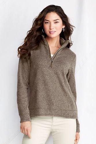 Women's Regular Sweater Fleece Half-zip - Caraway Heather, XS from ...
