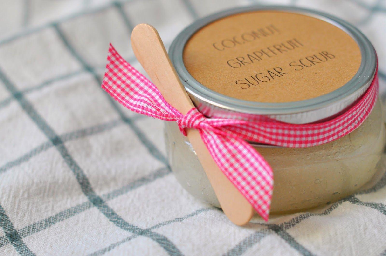 Teacher Valentine Gifts Diy Coconut Grapefruit Sugar Scrub A