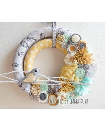 Photo of Double wrapped fabric wreath