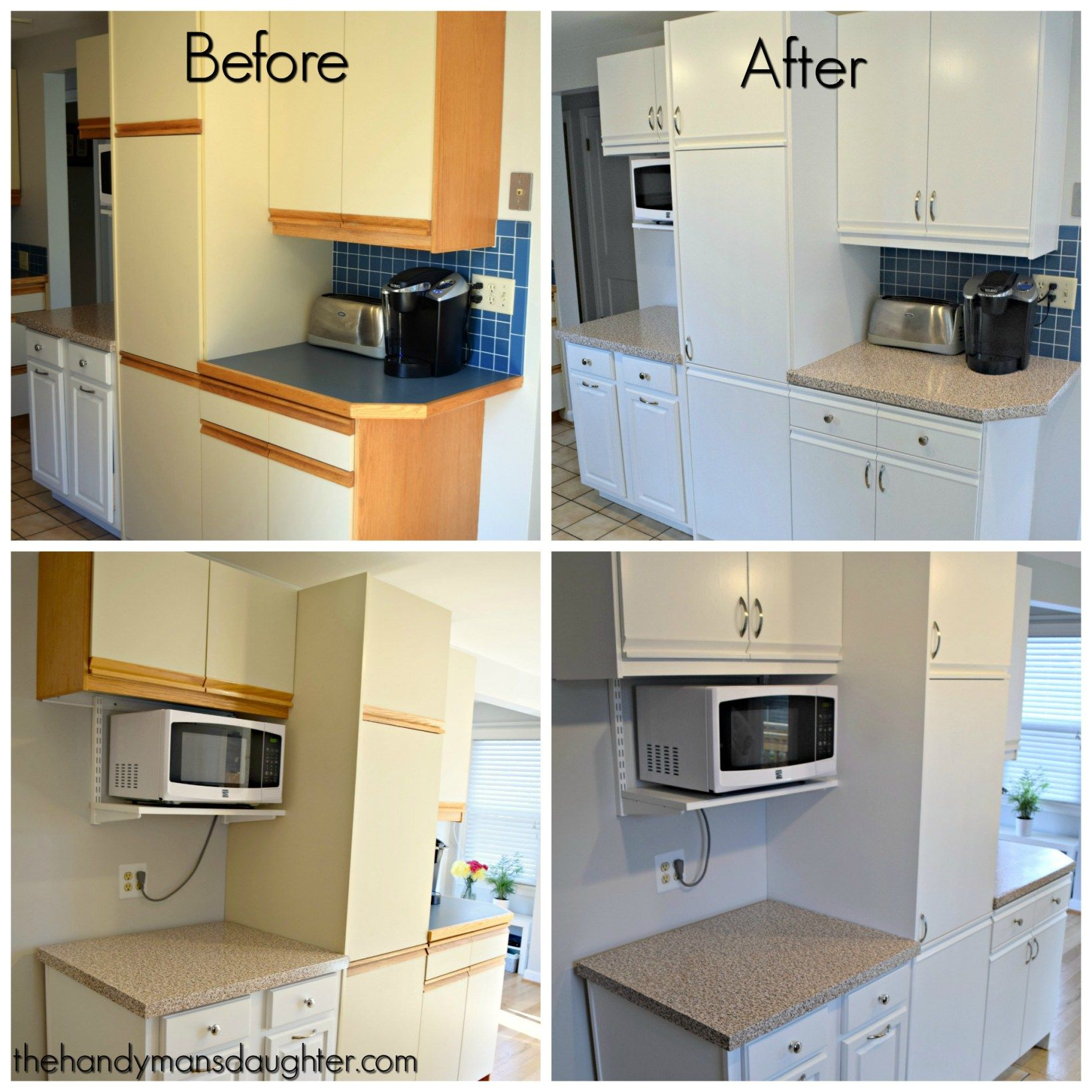 Tips For Updating Melamine Cabinets With Oak Trim Laminate Kitchen Cabinets New Kitchen Cabinets Laminate Kitchen