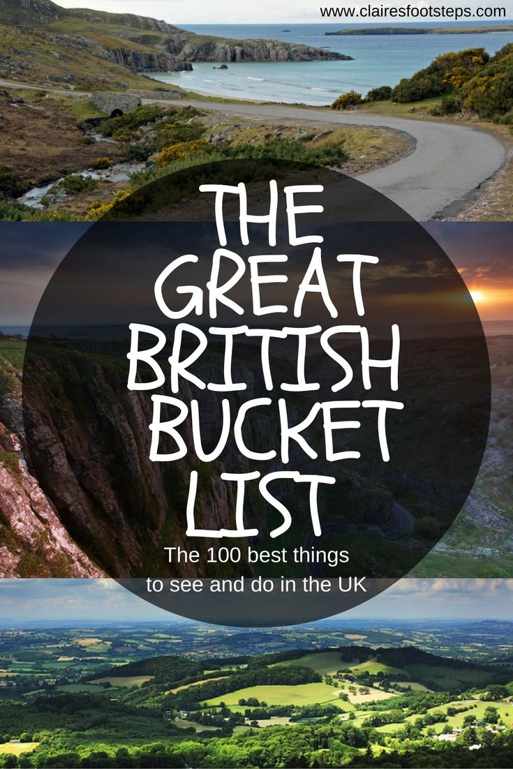 The Great UK Bucket List: 100 things to do in the UK #travelengland