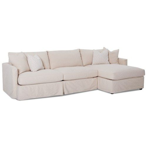 Add Laf Chaise Klaussner Leisure 2 Pc Sectional Sofa With Slipcover And Raf