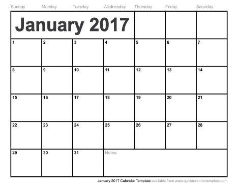 January 2017 Calendar August Calendar Monthly Calendar