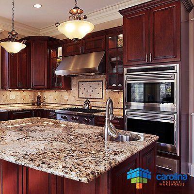 Cherry Kitchen Cabinets Wood 10x10 Rta Free Shipping