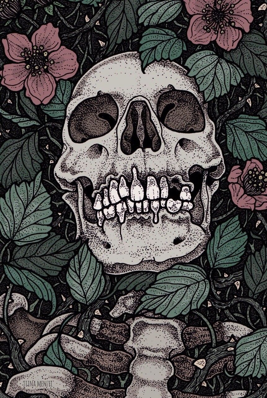 Skull Art By Tina Menzel Skeleton Art Skull Art