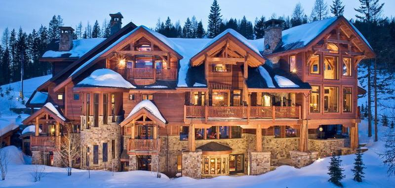 Mansion Log Cabin Looks Like Heaven Wished It Was