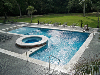 Like This But Free Form Instead Of Square... And No Steps, True. Swimming  Pool DesignsSwimming ...