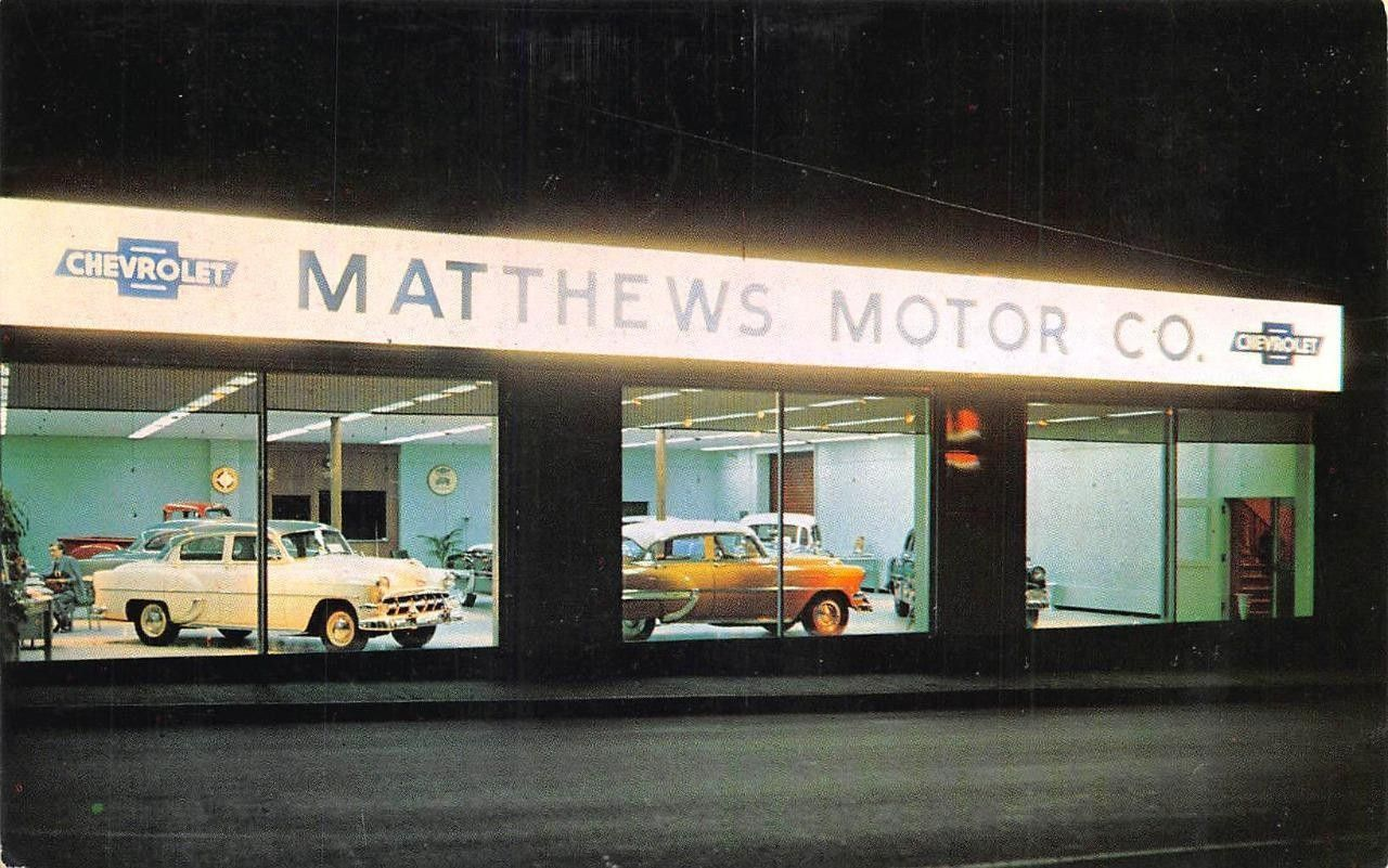 1954 Matthews Motor Co., Chevrolet Dealership, Fitchburg