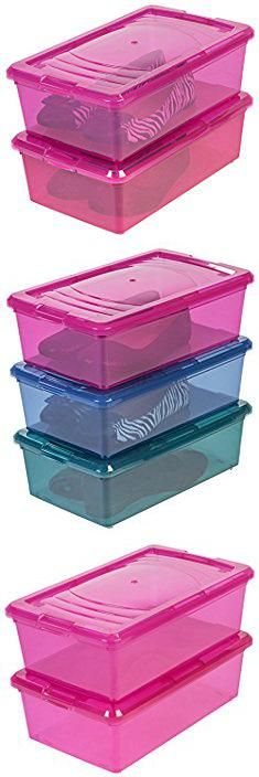 Pink Plastic Storage Bins Iris 6 Quart Modular Storage Box 10 Pack Pink Pink Plastic Storage Bins Toy Storage Boxes Plastic Storage Bins Storage Bins