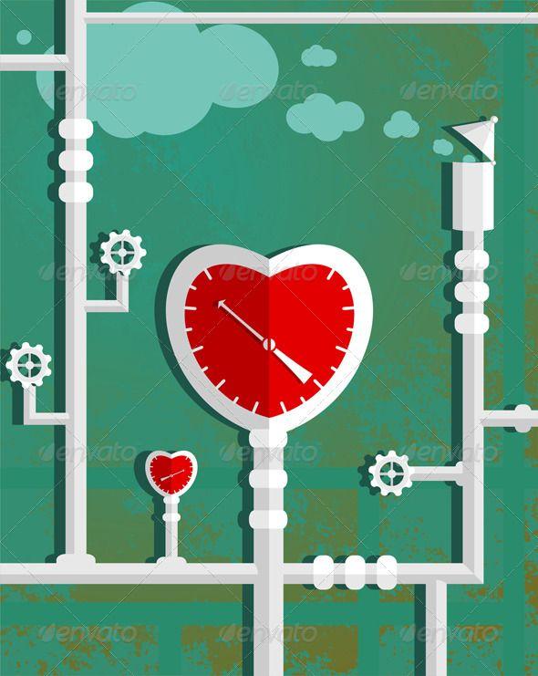 Love Heart Shape Steam Mechanism Heart Shapes Symbols And Shapes