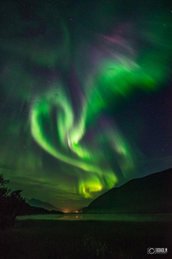 From the night of September 10, over Tromsø, Norway, by Jon-Eirik Boholm…