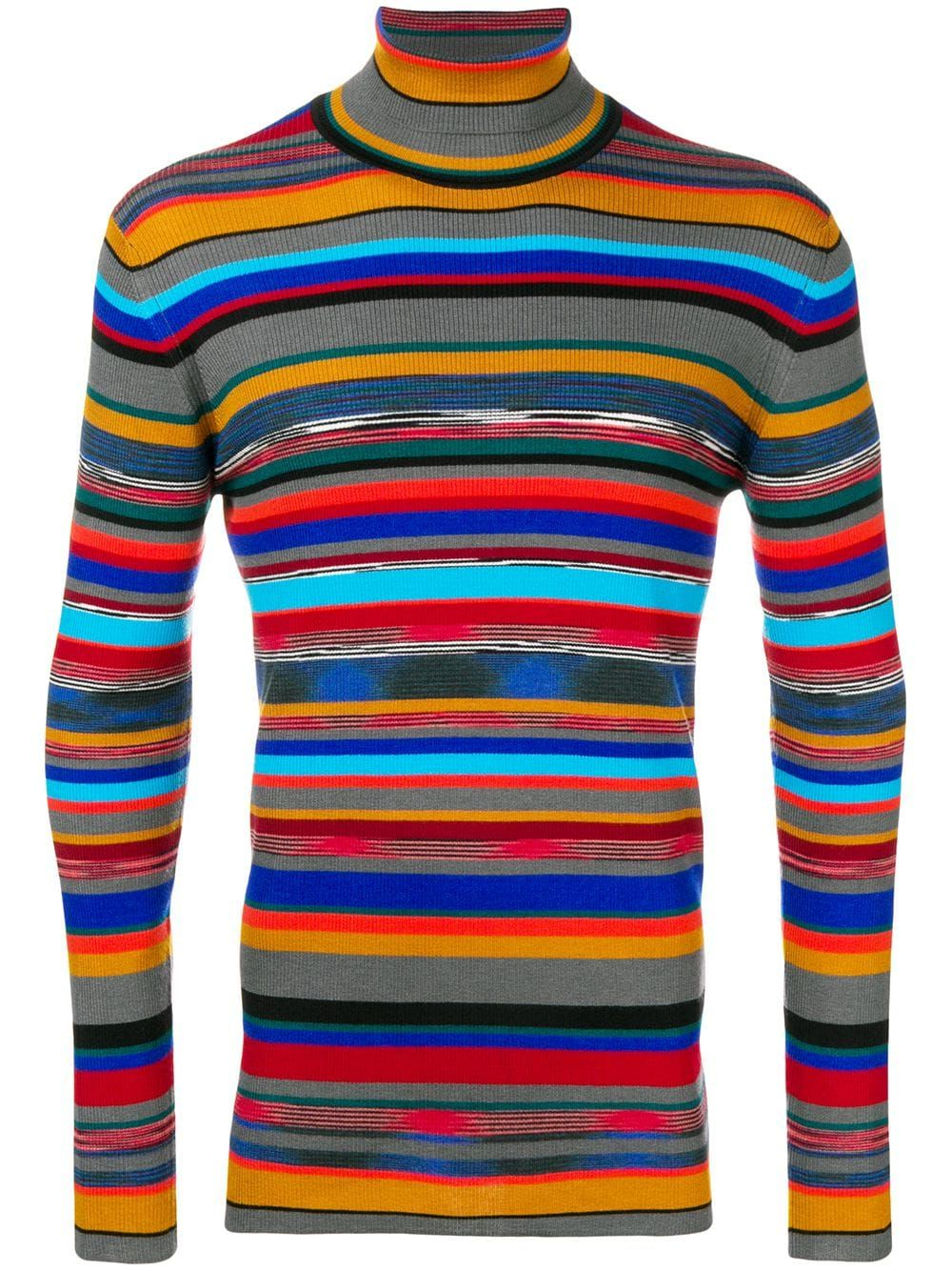2f3c0ea572 MISSONI MISSONI STRIPED ROLL NECK SWEATER - GREY.  missoni  cloth ...