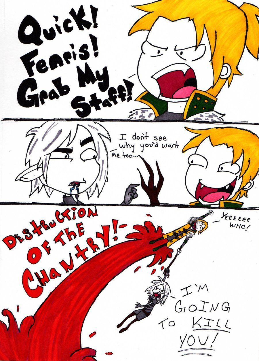 That rivalry. Maker, they're hilarious Dragon age