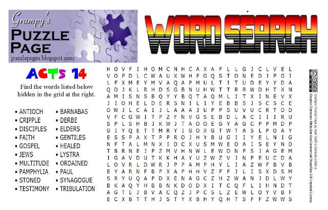 Grampys puzzle page word search acts 14 bible acts pinterest grampys puzzle page word search acts 14 fandeluxe Gallery