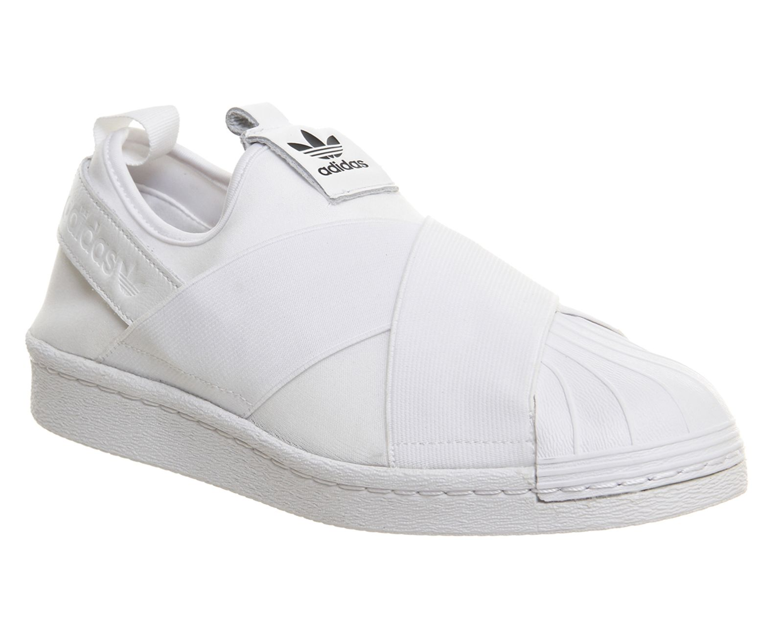 Buy White Mono Adidas Superstar Slip On from OFFICE.co.uk.