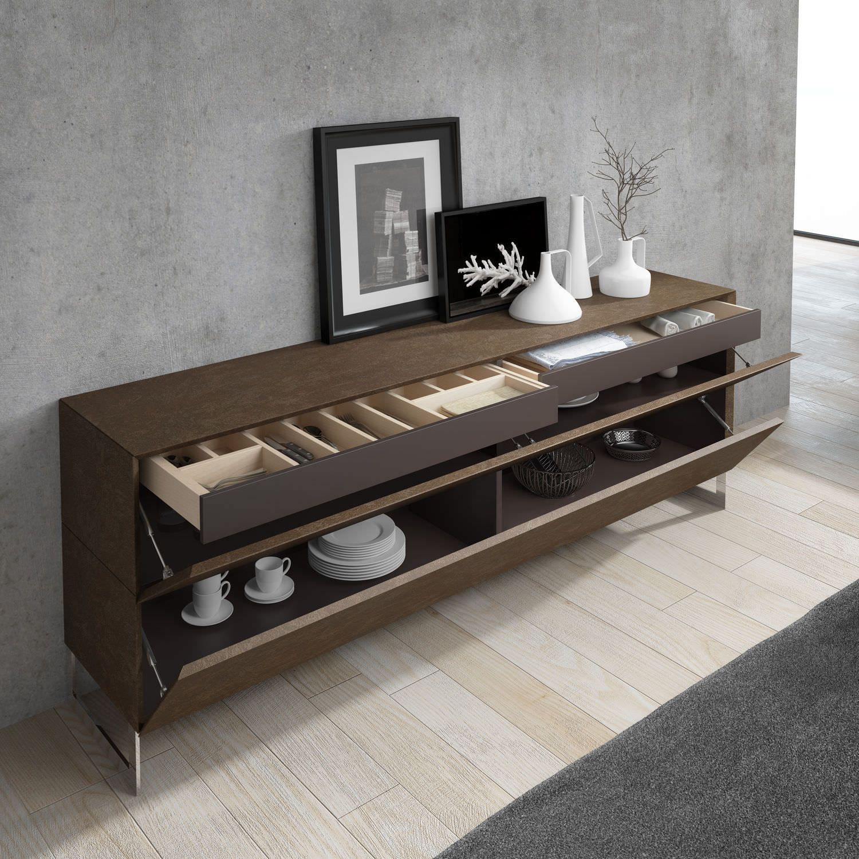 Adesivo De Moveis De Madeira ~ Aparador moderno de madera GINGA + AU01 A Brito Decoraxion Pinterest Aparador moderno