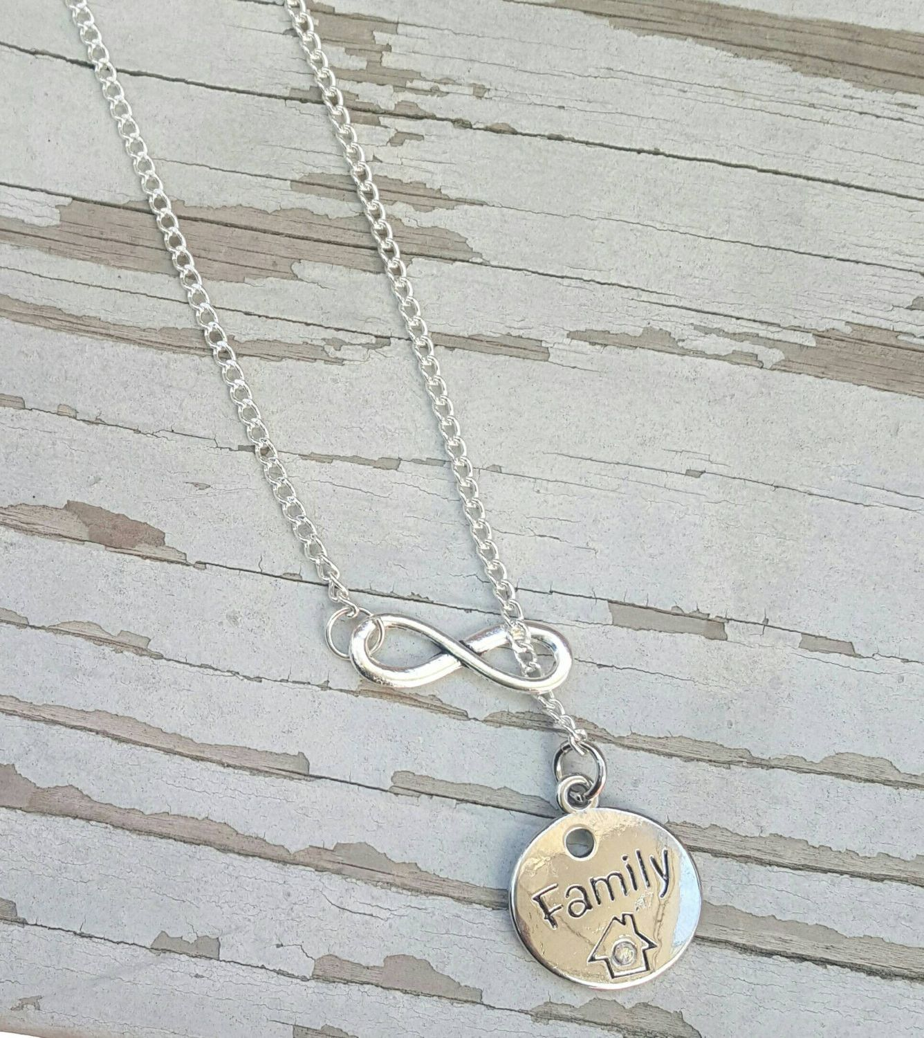 Free Shipping In The Us Infinity Necklace For Family Gift For Mom