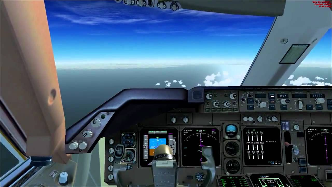 FSX HD - Pmdg Boeing 747-400 - Complete flight from London