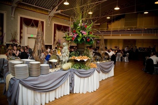 buffet setup | Buffet set up at Armory | Wedding Planning ...