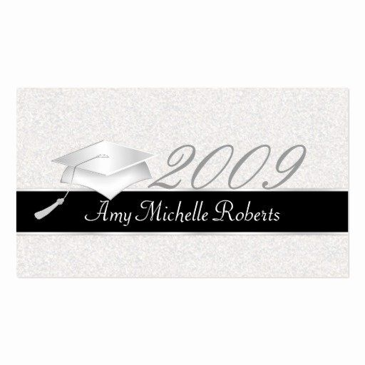graduation name cards template lovely high school