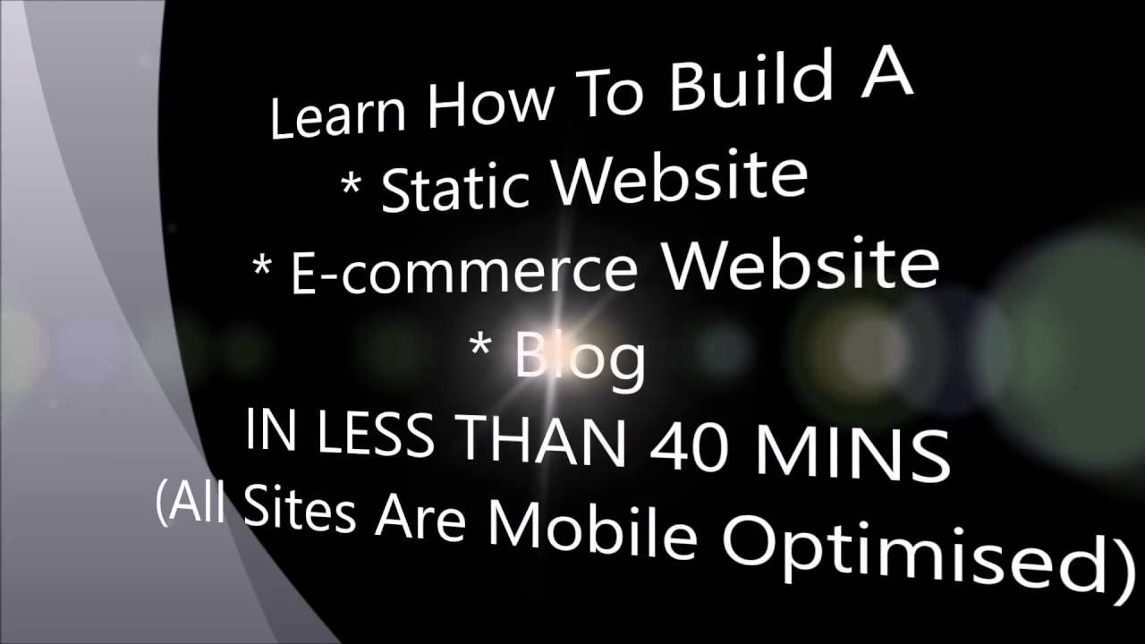 How to create a website online store or blog in less than 1 hour for free.