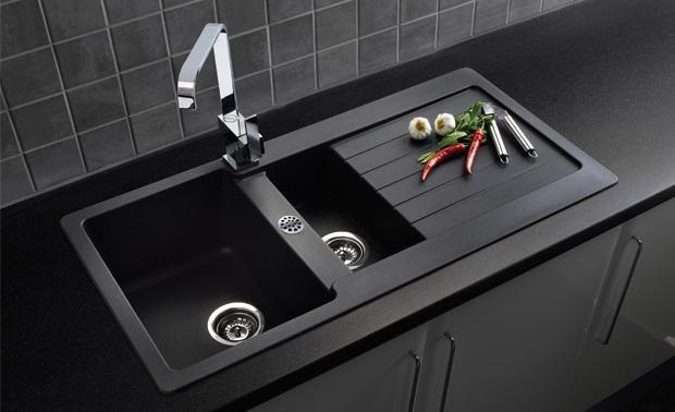 Model Wastafel Dapur Dan Harganya Granite Composite Sinks Sink Taps Black Kitchens Kitchen