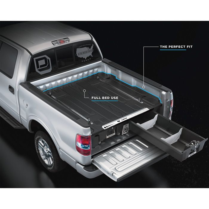 Decked 2 Drawer Pickup Truck Bed Storage System For Dodge Ram 1500 2009 2018 5ft 7in Bed Length Model Dr3 In 2021 Truck Bed Storage Pickup Trucks Bed Truck Bed