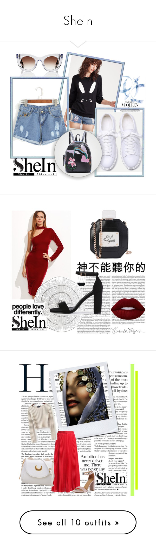 """SheIn"" by munevera-berbic ❤ liked on Polyvore featuring shein, Cyan Design, Kenzie, By Lassen, Élitis, Bobbi Brown Cosmetics, MAC Cosmetics, Dyson and Pier 1 Imports"