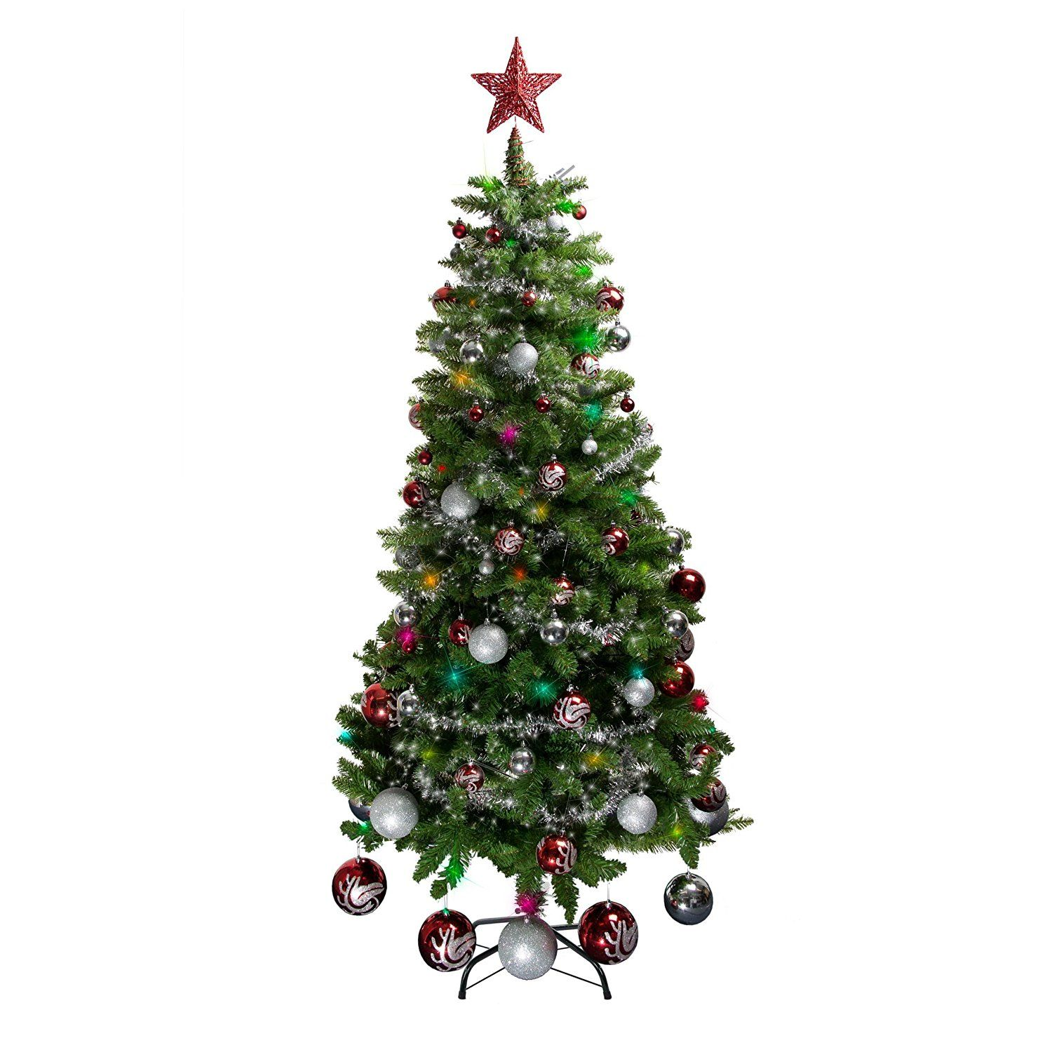 Artificial Christmas Trees Amazon Uk: 6ft Christmas Tree With Stand (173cm Artificial Xmas Tree