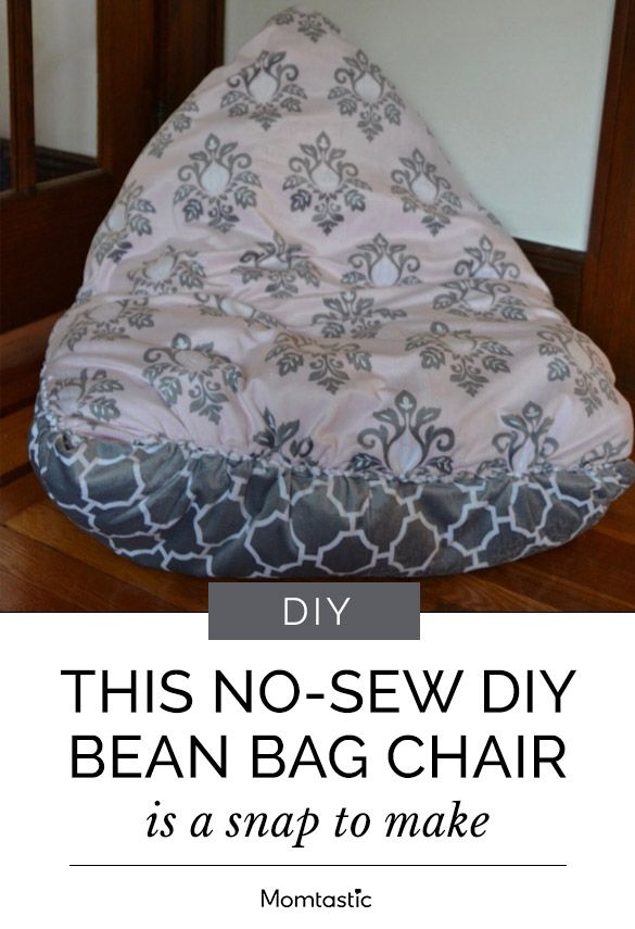 No Sew Bean Bag Chair Rectangular Leg Glides This Diy Is A Snap To Make Craft Corner Create Cozy For Your Kids
