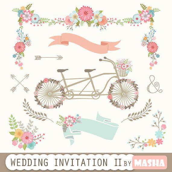 Wedding Invitation Clipart II:
