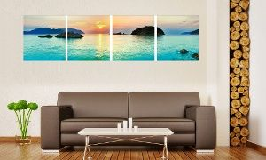 groupon multi panel landscape photography vinyl canvas prints in
