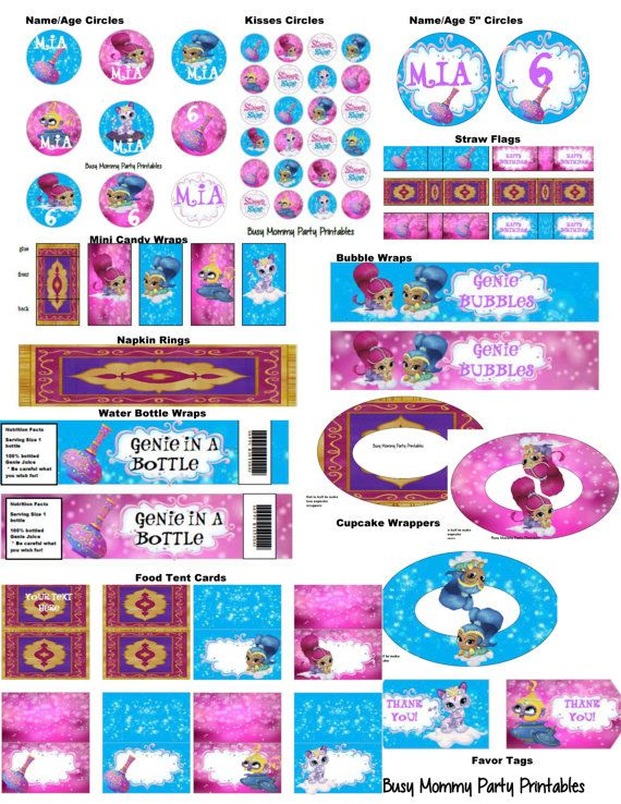 Shimmer And Shine Party Package Shimmer And By