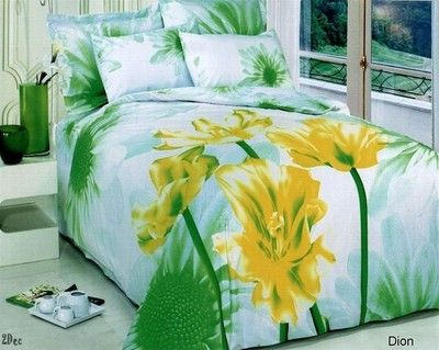 3D Effect Bedding Complete Set Duvet Cover,Pillow Cases /& Fitted Sheet 205